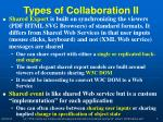 types of collaboration ii