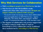 why web services for collaboration