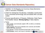 cancer data standards repository
