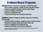 evidence based programs41