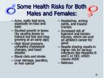 some health risks for both males and females