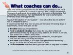 what coaches can do