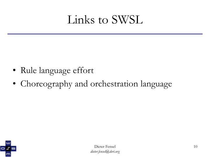 Links to SWSL