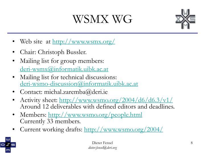 WSMX WG