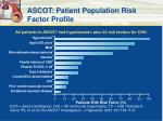 ascot patient population risk factor profile