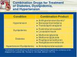 combination drugs for treatment of diabetes dyslipidemia and hypertension