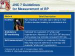 jnc 7 guidelines for measurement of bp