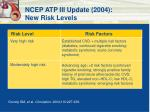 ncep atp iii update 2004 new risk levels