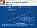 newer versus older agents allhat