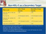 non hdl c as a secondary target