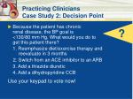 practicing clinicians case study 2 decision point47