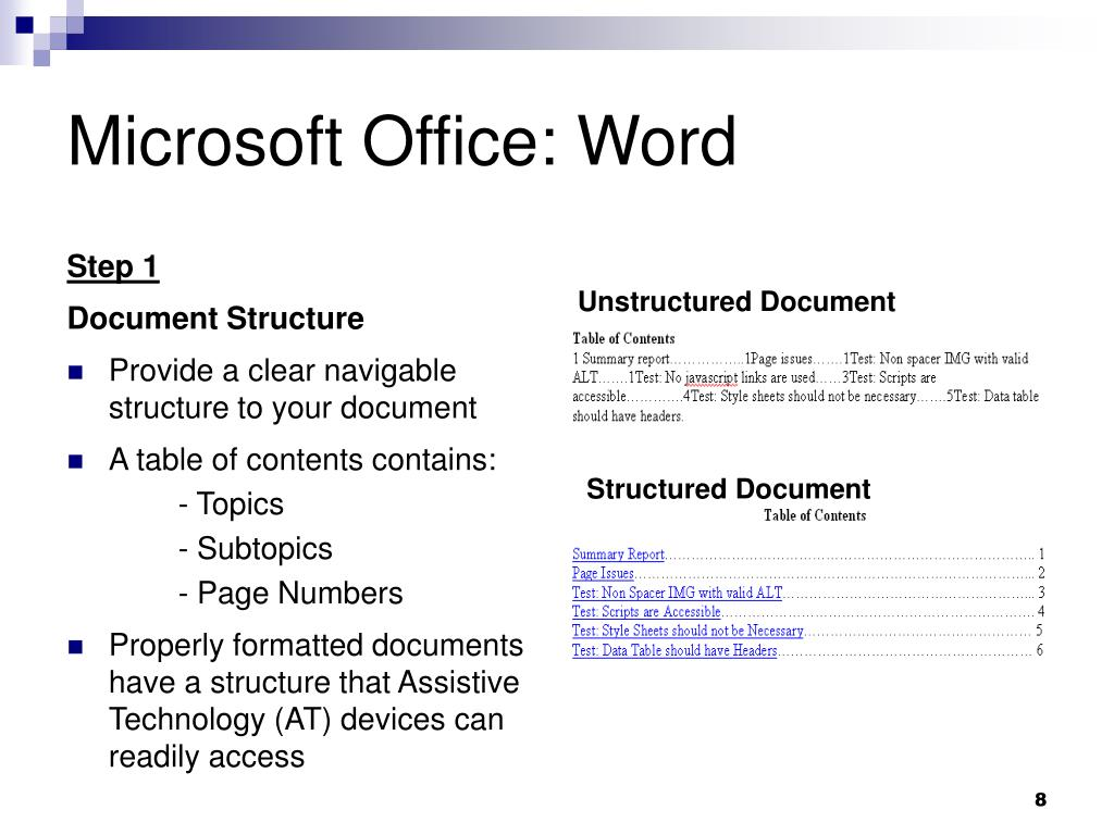 Unstructured Document
