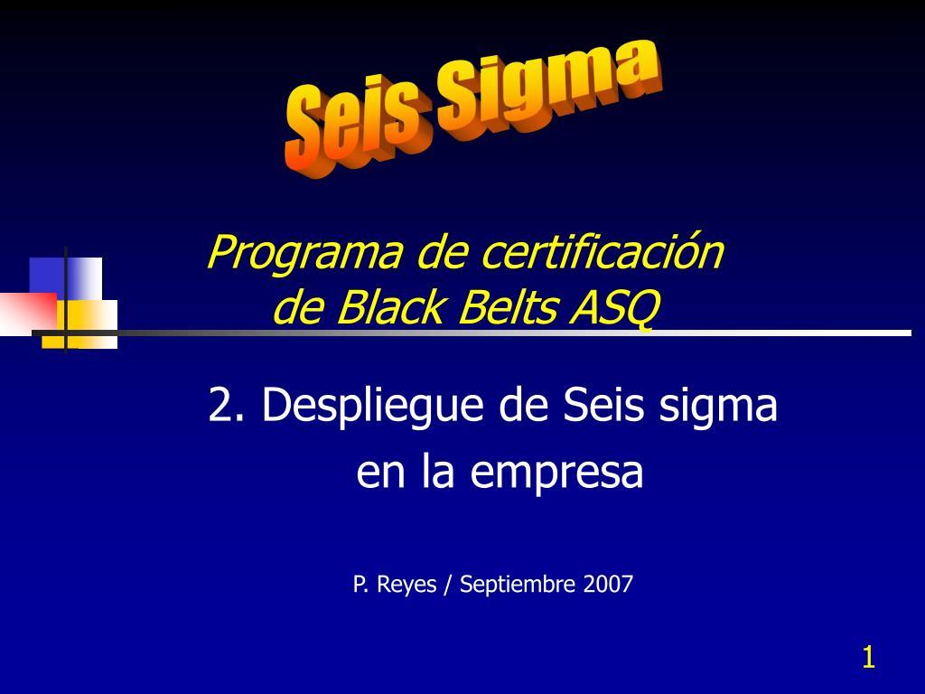 programa de certificaci n de black belts asq