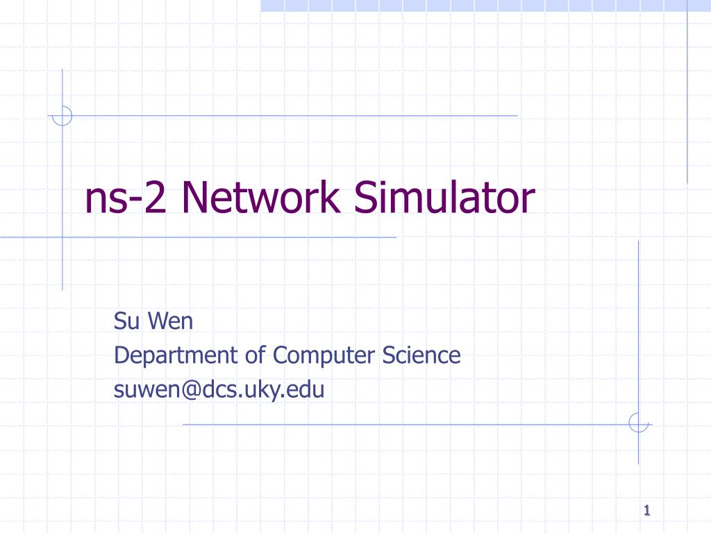 ns 2 network simulator l.