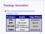 topology generation