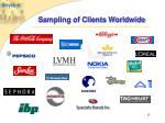 sampling of clients worldwide