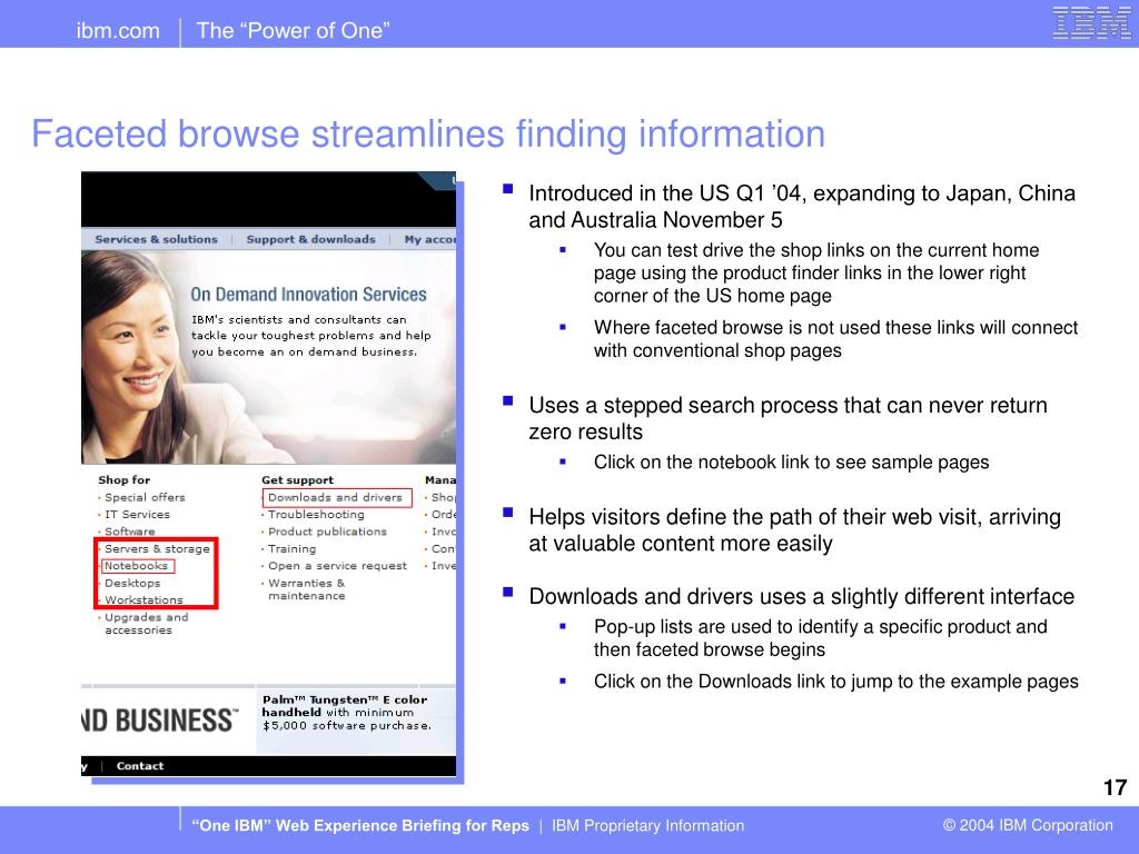 Faceted browse streamlines finding information