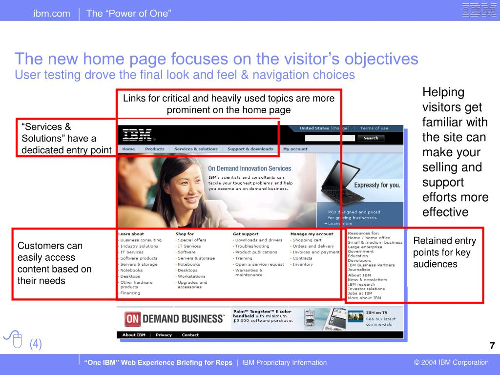 Links for critical and heavily used topics are more prominent on the home page