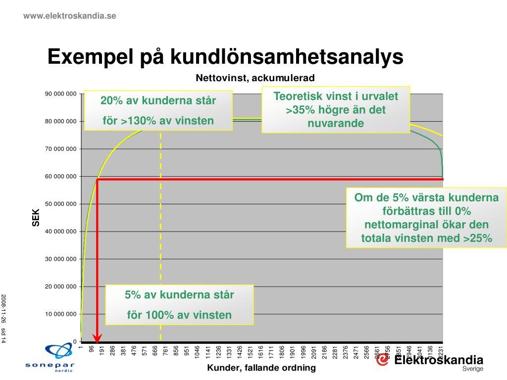 Exempel på kundlönsamhetsanalys