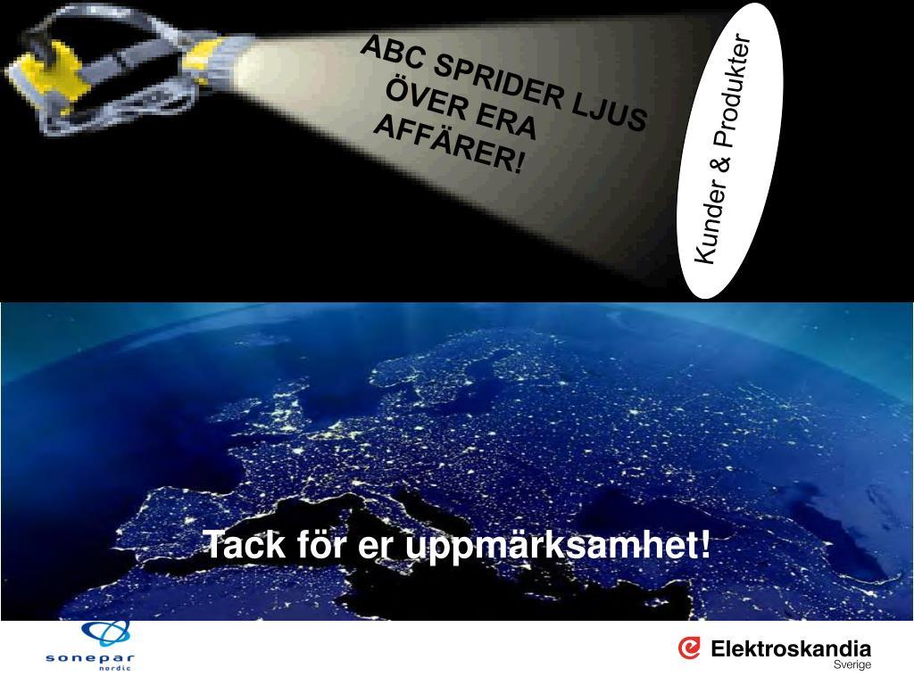 ABC SPRIDER LJUS ÖVER ERA AFFÄRER!