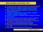 new criteria for rating hr