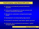 small company large network hr cont