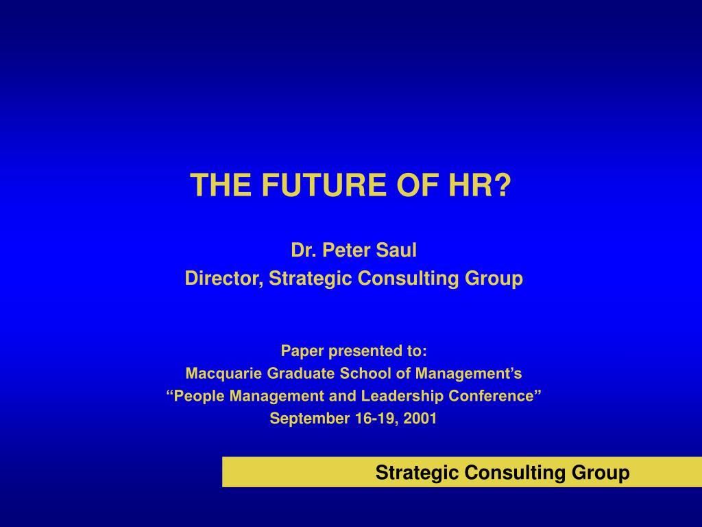 the future of hr l.