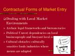contractual forms of market entry12