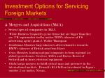 investment options for servicing foreign markets18