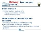 delivery take charge of yourself59
