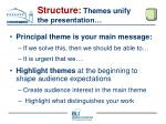 structure themes unify the presentation
