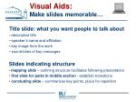 visual aids make slides memorable