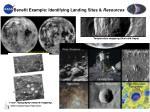 benefit example identifying landing sites resources