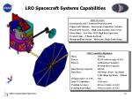 lro spacecraft systems capabilities