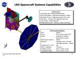lro spacecraft systems capabilities