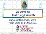 25 days to health and wealth