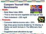 compare yourself with benchmarks