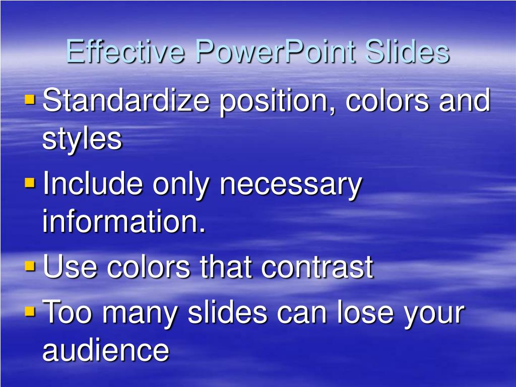 Effective PowerPoint Slides
