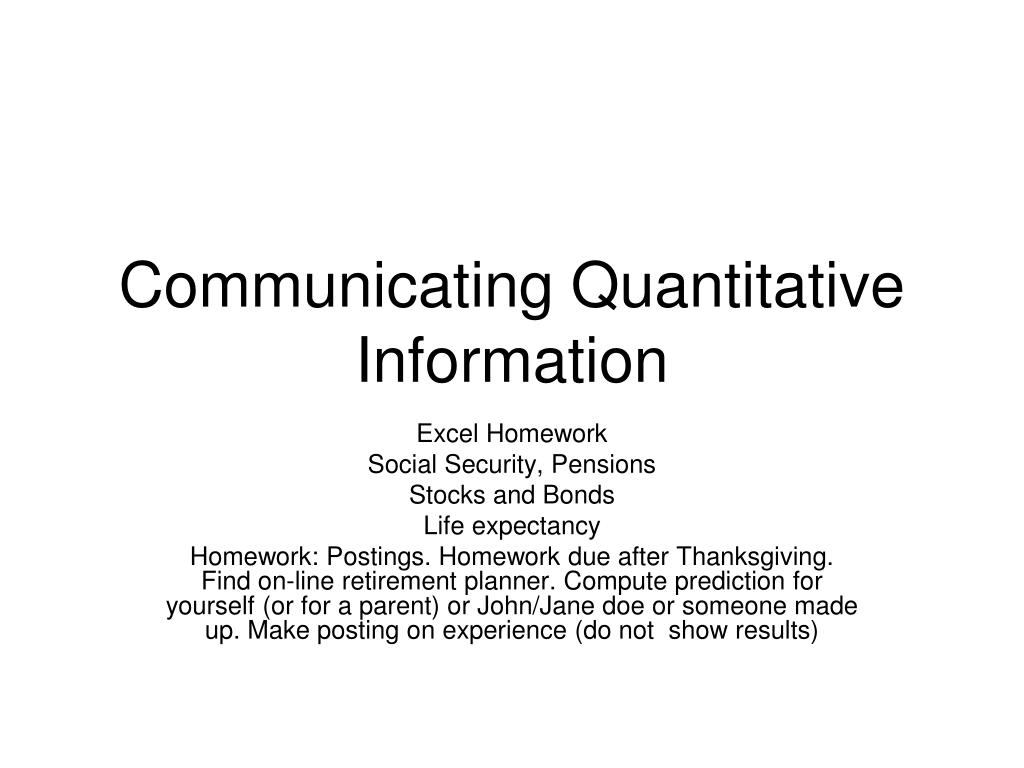 communicating quantitative information l.