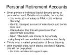 personal retirement accounts