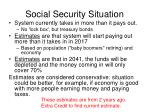 social security situation