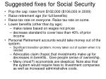 suggested fixes for social security
