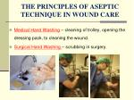 the principles of aseptic technique in wound care
