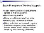 basic principles of medical asepsis