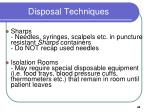 disposal techniques47