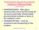 transmission based precautions contact precautions continued90