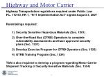 highway and motor carrier