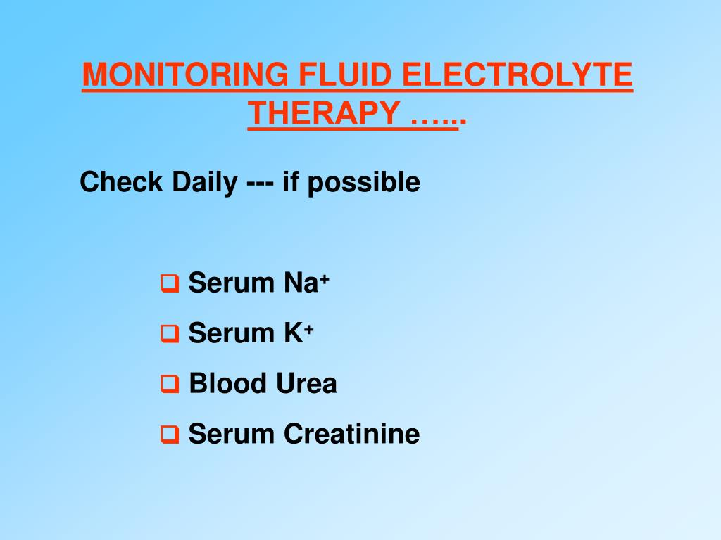 MONITORING FLUID ELECTROLYTE
