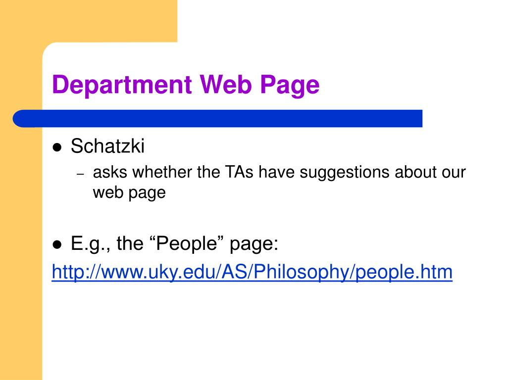 Department Web Page