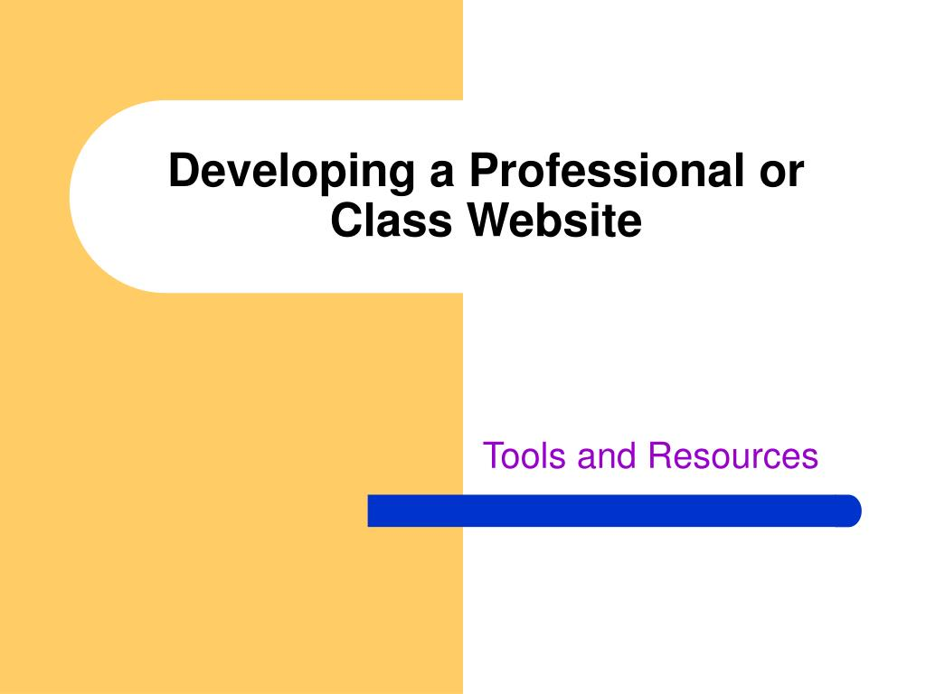 developing a professional or class website l.